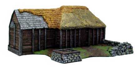 Hudson & Allen 25mm Scale Model Log Cabin Village Building #1 for Tabletop Miniature Wargames