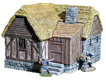 Hudson & Allen 25mm Scale Model Medieval Village Building 4A for Tabletop Miniature Wargames