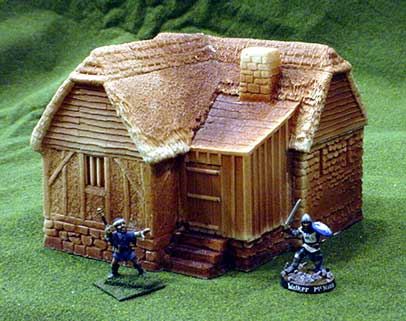Hudson & Allen Studio 25mm Scale Model Medieval Village Building 4A unpainted