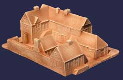 Hudson & Allen 25mm scale model European Village for Tabletop Miniature Wargames