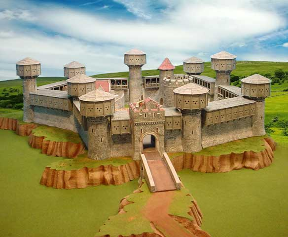 Castle Diorama with Hoardings image