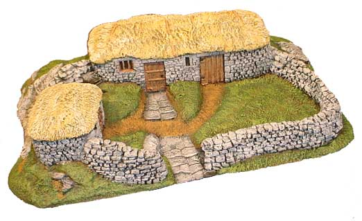 Hudson & Allen 25mm scale model Highland Village Set, Building 1 for Tabletop Miniature Wargames