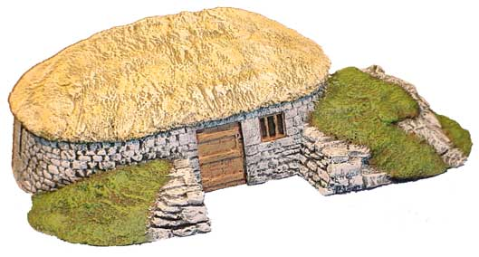 Hudson & Allen 25mm scale model Highland Village Set, Building 2 for Tabletop Miniature Wargames