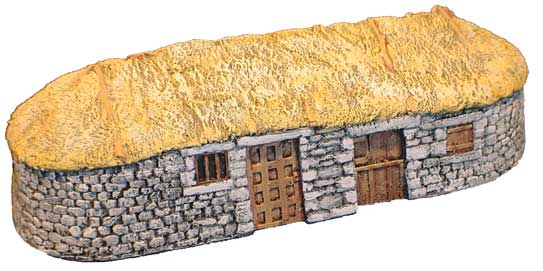 Hudson & Allen 25mm scale model Highland Village Set, Building 3 for Tabletop Miniature Wargames