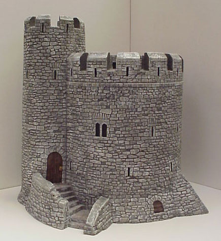 Hudson & Allen 25mm Scale Model Medieval Keep for Tabletop Miniature Wargames