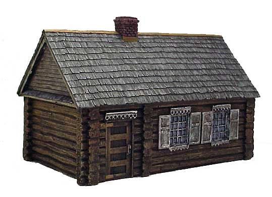 Hudson & Allen 25mm Scale Model Log Cabin Village Building #3 for Tabletop Miniature Wargames