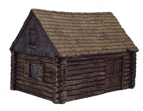 Hudson & Allen 25mm Scale Model Log Cabin Village Building #5 for Tabletop Miniature Wargames