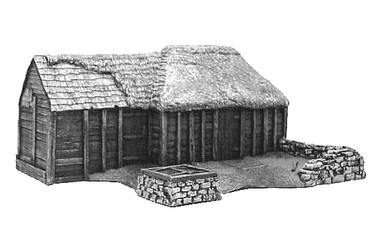 Log Cabin Village Set Building #1