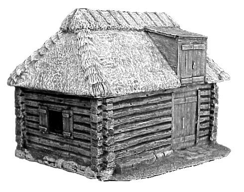 Hudson allen studio 25mm scale model log cabin village for Hudson log