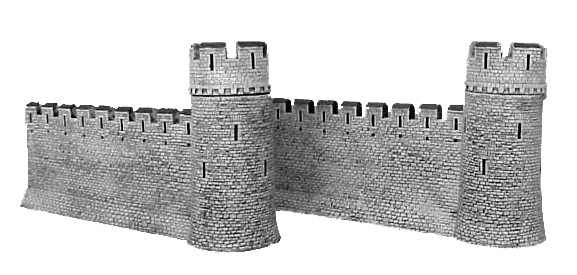 Hudson & Allen 25mm Scale Model Medieval Castle Wall Expansion Set for Tabletop Miniature Wargames