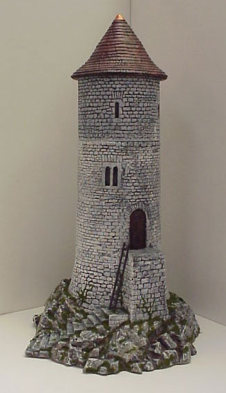 Hudson & Allen 25mm Scale Model Medieval Watchtower for Tabletop Miniature Wargames